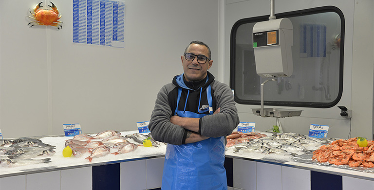 Portrait d'Abdel, Poissonnerie AZUR